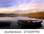 Stock photo lake in the autumn background 271439792