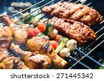 assorted meat from chicken and... | Shutterstock . vector #271445342