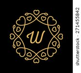 vector wedding monogram  with... | Shutterstock .eps vector #271455842
