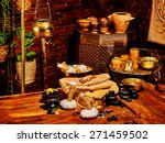 luxury ayurvedic spa massage... | Shutterstock . vector #271459502