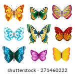 set of various colorful... | Shutterstock . vector #271460222