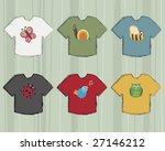 t shirts with wildlife icons | Shutterstock .eps vector #27146212