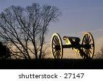 Civil War Cannon On Manassas ...