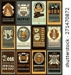 set for beer design contains... | Shutterstock .eps vector #271470872