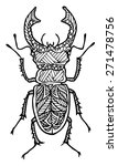 zentangle style insect vector... | Shutterstock .eps vector #271478756