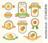 apricot labels. fruits badges... | Shutterstock .eps vector #271482848