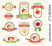 apple labels. fruits badges and ... | Shutterstock .eps vector #271482866