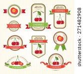 cherry labels. fruits badges... | Shutterstock .eps vector #271482908