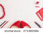 still life of fashion woman.... | Shutterstock . vector #271483586