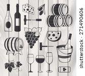 elegant wine set of vintage...