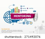 mentoring concepn and... | Shutterstock .eps vector #271492076