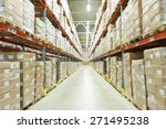 interior of warehouse. rows of... | Shutterstock . vector #271495238