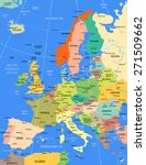 europe highly detailed... | Shutterstock . vector #271509662