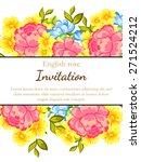 english rose. romantic... | Shutterstock .eps vector #271524212
