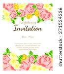 english rose. romantic... | Shutterstock .eps vector #271524236