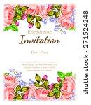 english rose. romantic... | Shutterstock .eps vector #271524248