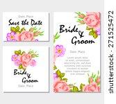english rose. wedding... | Shutterstock .eps vector #271525472