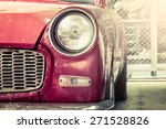 retro headlight of vintage car | Shutterstock . vector #271528826