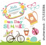 garden party set | Shutterstock .eps vector #271533086
