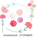 carnation for mother's day   Shutterstock .eps vector #271546835