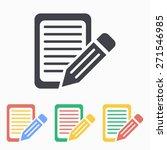 registration  icon. vector... | Shutterstock .eps vector #271546985