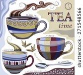 teatime. vector illustration... | Shutterstock .eps vector #271548566