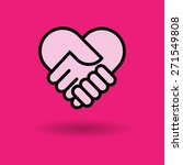 check hand heart icon great for ... | Shutterstock .eps vector #271549808
