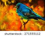 original pastel painting on... | Shutterstock . vector #271555112