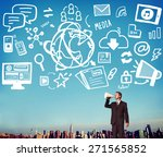 social media social networking... | Shutterstock . vector #271565852