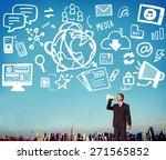 social media social networking... | Shutterstock . vector #271565852