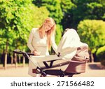 family  child and parenthood...   Shutterstock . vector #271566482