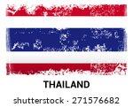 thailand grunge flag isolated...   Shutterstock .eps vector #271576682