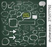 blackboard with oldschool... | Shutterstock .eps vector #271577702
