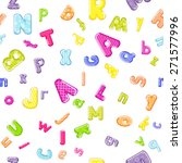 cartoon alphabet pattern | Shutterstock . vector #271577996