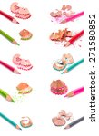 colour pencils set isolated on... | Shutterstock . vector #271580852