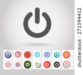 vector on off icon and big set... | Shutterstock .eps vector #271594412