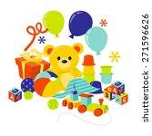 a cartoon vector illustration... | Shutterstock .eps vector #271596626