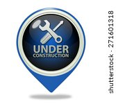 under construction pointer icon ... | Shutterstock . vector #271601318