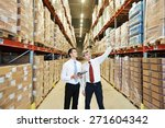 two managers workers in... | Shutterstock . vector #271604342