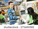 Customer Buying Food At...