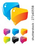 set of colorful dialog boxes | Shutterstock .eps vector #27160558