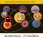 warning emergency phone number... | Shutterstock .eps vector #271610816