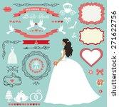 wedding bridal shower... | Shutterstock .eps vector #271622756
