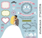 wedding invitation card decor... | Shutterstock .eps vector #271623536