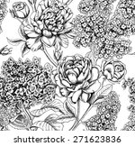 Seamless Botanical Floral...