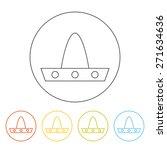 vector sombrero line icon.... | Shutterstock .eps vector #271634636