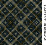 seamless art deco grid pattern.  | Shutterstock .eps vector #271635446