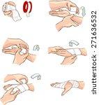 hand bandage | Shutterstock .eps vector #271636532