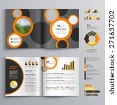 gray brochure template design... | Shutterstock .eps vector #271637702