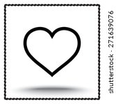 heart sign icon  vector... | Shutterstock .eps vector #271639076